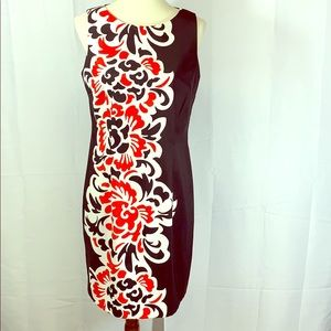 AGB Black and Red Printed Dress 12